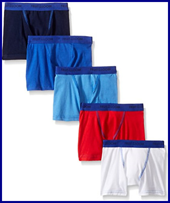 Fruit Of The Loom Toddler Boys' 5 Pack Stretch Boxer Brief Assorted 4T/5T