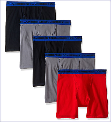 Fruit Of The Loom Big Boys' 5 Pack Sport Boxer Brief Large