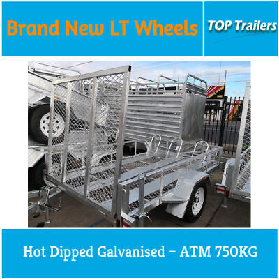8×5 Hot Dip Galvanised Motorbike Trailers