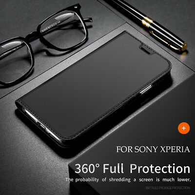 Flip Magnetic Leather Wallet Case Cover For Sony Xperia Z5 Compact / X XA XZ XZ1