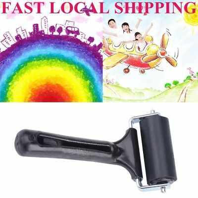 6cm Brayer Rubber Roller Brush Block Paint Art Painting Artists Craft Tool 110g