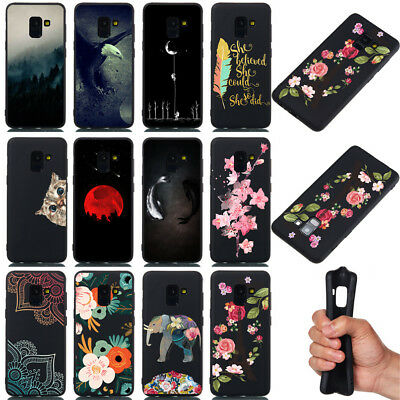 For Samsung Galaxy A8 A6 Plus J6 J2 A9 A7 2018 Soft Painted TPU Back Case Cover