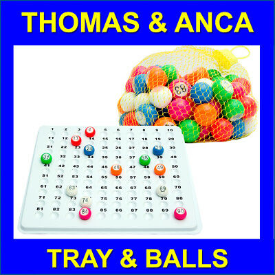 Recessed Check Tray & 22mm 1-90 Bingo Balls