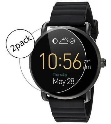 2X Premium Ultra-thin Tempered Glass Screen Protector for Fossil Q Wander Watch