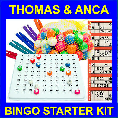 Recessed Check Tray & 1-90 Bingo Balls Starter Kit with Tickets & Felt Marker