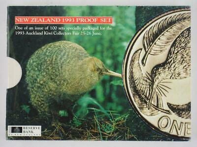 New Zealand - 1993 - Annual Proof Coin Set - Kingfisher [Coin Fair Issue]