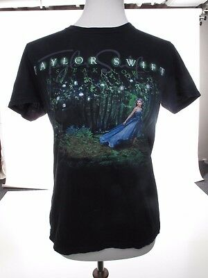 Taylor Swift Speak Now Black Short Sleeve Concert Tee Size S #17001254