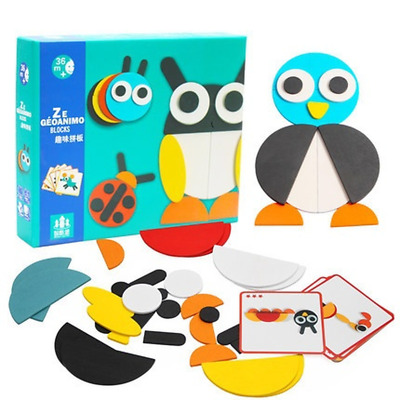 Children Wooden Jigsaw Puzzle Early Learning Baby Kids Educational Animal Toys
