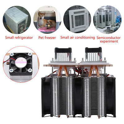 144W 12V 5A Dual-core Semiconductor Refrigeration Peltier Air Cooling Equipment