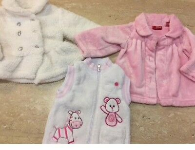 Size 00 pink and white winter jacket bundle: sprout and best and less