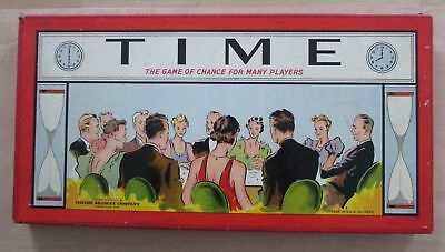 Time The Game Of Chance Milton Bradley 1938 New With Sealed Playing Pieces