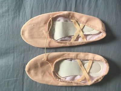 Ladies Ballet Dance Shoes Pink Canvas Brand New Perfect Condition Size 39