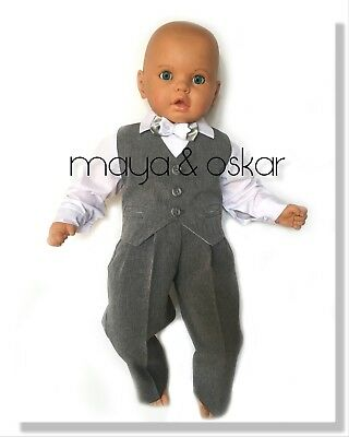 Baby Boy Grey Smart Pageboy Outfit Baptism Wedding Christening Formal Suit 0-24m