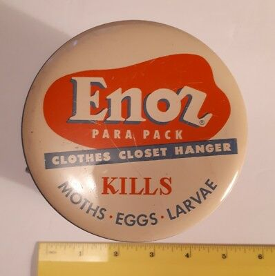 "Rare Vintage American (Chicago) ""enoz Para Pack Clothes Closet- Moth Killer"" Tin"