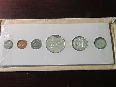1955 Canada Proof Like Set- 6 Coins - In Original Envelope Silver Unc Royal Mint