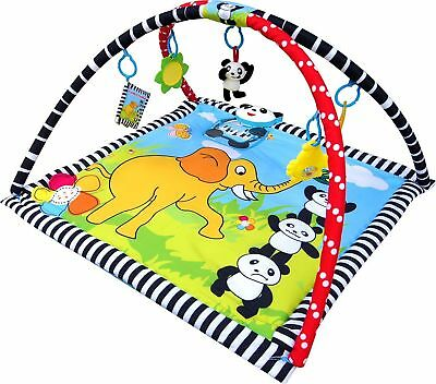 Baby Play Mat, Play Gym, Musical Activity Gym Panda Theme with Music Box