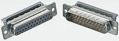 3M 8200 Series 2.74mm Pitch 50 Way IDC D-sub Connector, Plug, Steel Shell