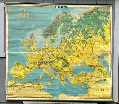 1940s Map Of Europe.1943 Vintage Europe Map 1940s Collectible Map Of Europe Gallery Wall