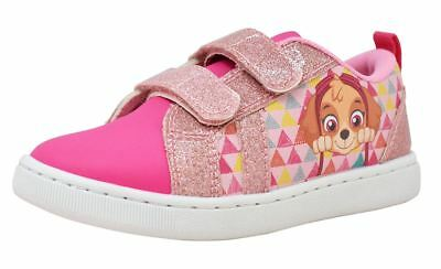 Paw Patrol Pup Heroes Girls Pink Canvas Trainers Sports Shoes UK Sizes 5-10