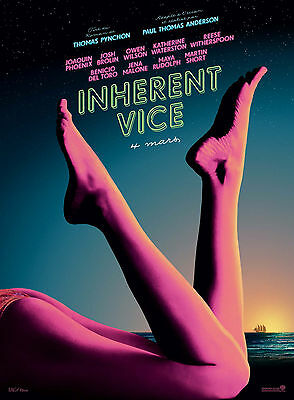 INHERENT VICE Affiche Cinéma ROULEE 160x120 Movie Poster Paul Thomas Anderson