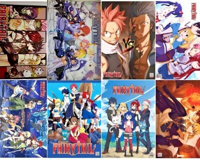 Anime FAIRY TAIL Poster Wall Art Home Decor 16.5x11.25 Inches