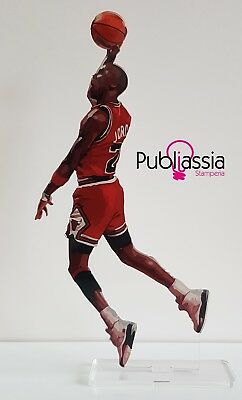 Michael Jordan Action Figure plexiglass statua idea regalo collezione basket NBA
