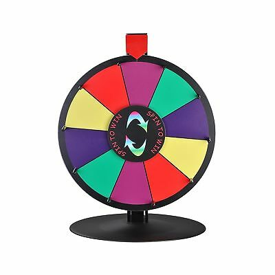 """WinSpin 15"""" 10 Slot Tabletop Color Dry Erase Prize Wheel and Stand Fortune Sp..."""