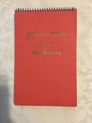 Vintage Stenotype Stenotypy Theory Manual Shorthand Typing Book 1958 Hardcover