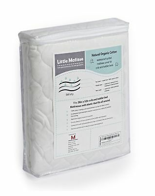 Baby Crib Mattress Waterproof with Top Layer from Organic Cotton and Elast..