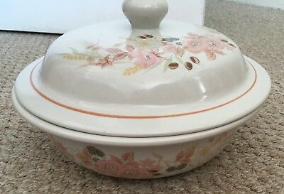 "Boots Hedge Rose 9"" Lidded Tureen Casserole Serving Dish. No Signs Of Being Used"
