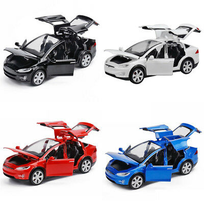 1:32 Tesla Model X 90D SUV Diecast Model Car Sound&Light Pull Vehicle Toy Gifts