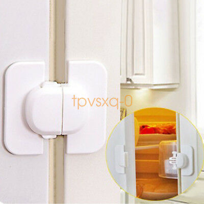 10pcs Child Baby Safety Door Lock Proof Cupboard Fridge Cabinet Prevent Clamping