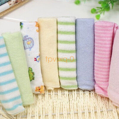 8pcs Soft Cotton Baby Infant Newborn Bath Towels Washcloth Feeding Wipe Cloth UK