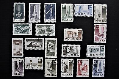POLAND - 1964-1968 WORLD WAR 2 Polish War Monuments All 6 Issues - Used & MH