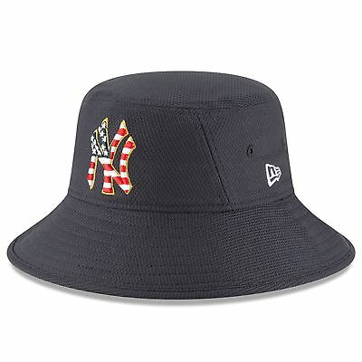 2e104333fb1bd7 2018 FOURTH OF July Stars and Stripes New York Yankees Bucket Hat ...