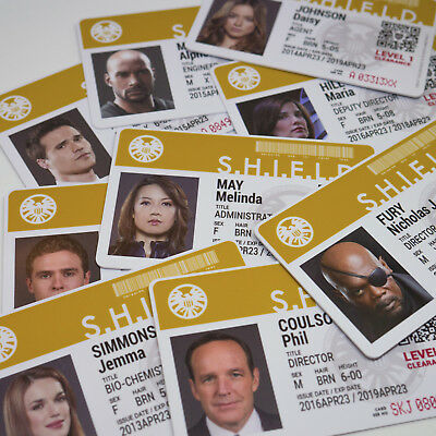 Marvel Agents of SHIELD TV Show ID Badge, Phil Coulson, Melinda May, AVENGERS