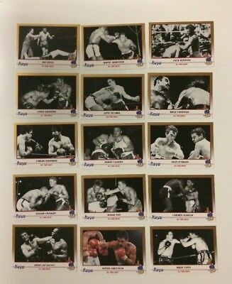 1991 Kayo Boxing Cards Lot(15) All Time Greats Rocky Marciano Joe Louis Dempsey