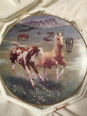 Spring Frolic From The Spirit Of The Mustang Plate Collection By Chuck Dehaan