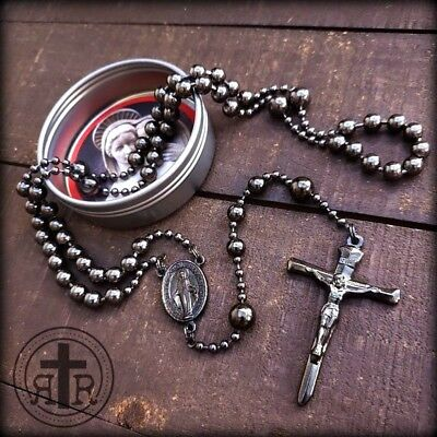 Gunmetal Military Rosary - WWI Service Combat Rosary