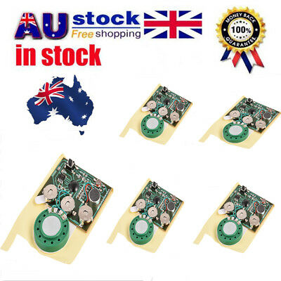 AU 5X 30s Recordable Music Sound Voice Module Chip 0.5W with Button Key Control