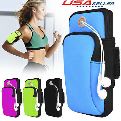 For Cell Phone Sport Jogging Running Armband Gym Pouch Holder Bag Case Cover US