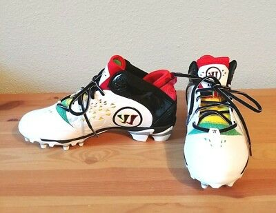 Warrior Adonis Rasta Lacrosse Cleats New Men's Sz 8.5 NIB MSRP $99 80121L66123