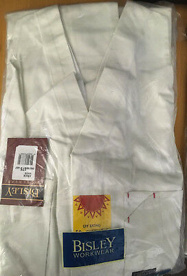 BISLEY Workwear White Action Back Overalls 102 107 112 117 127 132S FREE POSTAGE