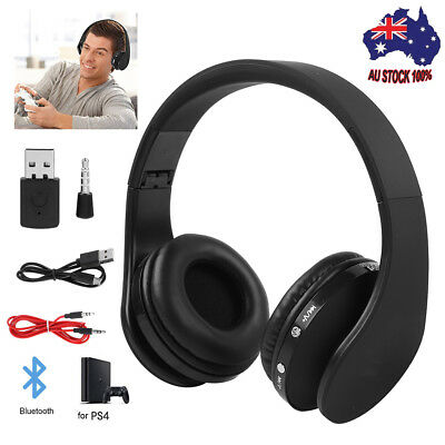 HOT Foldable Wireless Gaming Headset Headphone Hifi Stereo  for PS4