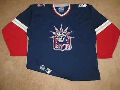 3492a1f6b promo code brian leetch original ccm new york rangers whitequotlibertyquot  jersey 3d8b6 860ee  reduced vintage new york rangers statue of liberty nhl  hockey ...