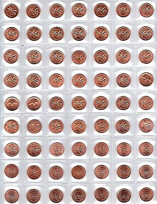 Canada - 96 Coin 1956 - 2012 Gem BU Penny Set - Loaded with Errors & Varieties!!