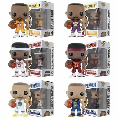 Pop Action Figure Toy-NBA Basketball World Star:Kobe/James/Curry For Collection