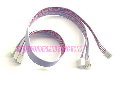 XH 2.54mm 3 x 4-Pin UL 2468 Double Female Connector PVC Flat Cable Wire 30cm x 5