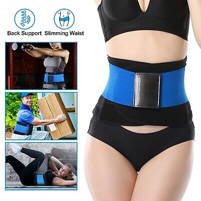 US Unisex Xtreme Power Belt Hot Slimming Thermo Shaper Waist Trainer Faja Sport