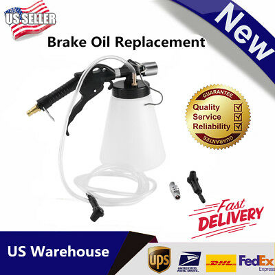 1L Brake Bleeder Fluid Bottle Kit Pneumatic Clutch Extractor Oil Replacement BT#